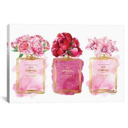 iCanvas Three Perfume Bottles 18-Inch x 26-Inch Gallery Canvas Wall Art | Bed Bath & Beyond