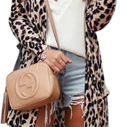 CinShein Women's Striped Cardigan Button Down Knitwear Striped Long Sleeve Knit Ribbed Neckline S... | Amazon (US)