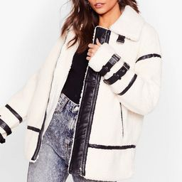 Faux Fur-get What They Said Aviator Jacket   NastyGal (US & CA)