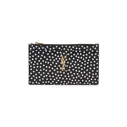 Monogram Polka Dot Leather Pouch | Saks Fifth Avenue