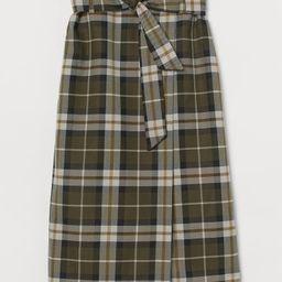 Tie-belt Wrapover Skirt | H&M (US)