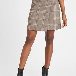 Plaid Wrap Mini Skirt | Banana Republic (US)