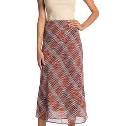 Plaid Chiffon Midi Skirt | Nordstrom Rack