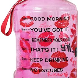 QuiFit Gallon Motivational Water Bottle - with Time Marker & Handle 128/73/43 oz BPA Free Reusabl... | Amazon (US)