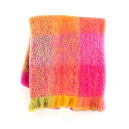 Color Block Throw - Super Pink | MacKenzie-Childs