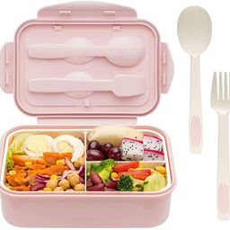 Bento Boxes for Adults - 1400 ML Bento Lunch Box For Kids Childrens With Spoon & Fork - Durable, ...   Amazon (US)