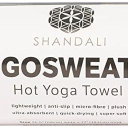SHANDALI GoSweat Non-Slip Hot Yoga Towel with Super-Absorbent Soft Suede Microfiber in Many Color... | Amazon (US)