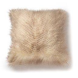 "20""x20"" Spotted Faux Fur Decorative Throw Pillow Brown/Natural - SureFit | Target"