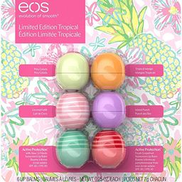 EOS 6 CT Variety Pack, Limited Edition Lip Balm Spheres, Variety Pack 6 Count - Pina Colada, Trop... | Amazon (US)