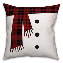 Snowman Scarf and Buttons Pillow | Kirkland's Home