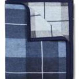 Sea Watch Plaid Blue Blanket | ChappyWrap