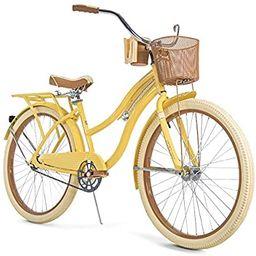 "Huffy Nel Lusso Women's Classic Cruiser Bike Frame Yellow, 26"" | Amazon (US)"