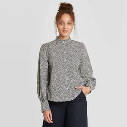 Women's Ruffle Long Sleeve Button-Down Blouse - A New Day™ | Target