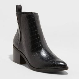 Women's Carolyn Block Heeled Chelsea Boots - A New Day™ Black | Target