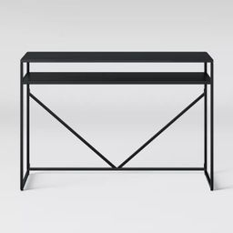 Glasgow Metal Writing Desk with Storage Black - Project 62™   Target