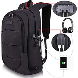 Travel Laptop Backpack Water Resistant Anti-Theft Bag with USB Charging Port and Lock 14/15.6 Inc... | Amazon (US)