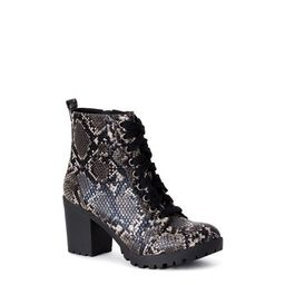 Time and Tru Lace Up Moto Bootie (Women's) | Walmart (US)