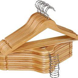 Utopia Home Non-Slip Premium Wooden Hangers - 360-Degree Rotatable Hook - Durable & Slim - Should...   Amazon (US)