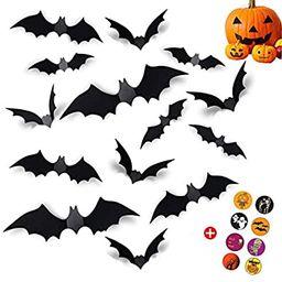 Rebesco 96 PCS Halloween Bats,Halloween Decorations,DIY Halloween Party Supplies PVC 3D Decorativ... | Amazon (US)