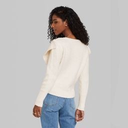 Women's Crewneck Ruffle Pullover Sweater - Wild Fable™ | Target