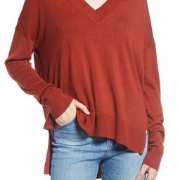Oversize V-Neck High/Low Sweater | Nordstrom