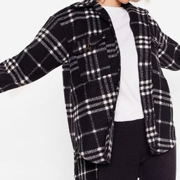 Plaid Influence Oversized Check Jacket | NastyGal (US & CA)