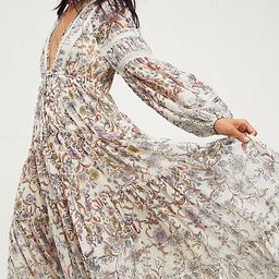 Cassis Printed Chiffon Dress by Free People, Tea Combo, L   Free People (US)