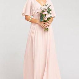 Emily Empire Maxi Dress ~ Dusty Blush Crisp   Show Me Your Mumu