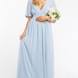 Emily Maxi Dress ~ Steel Blue Chiffon | Show Me Your Mumu