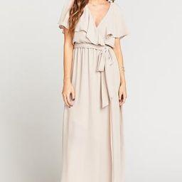 Audrey Maxi Dress ~ Show Me the Ring Crisp   Show Me Your Mumu