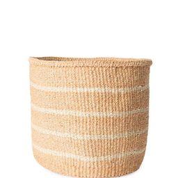 Striped Sisal Basket - White | The Little Market