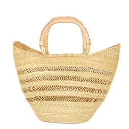 Open Weave Bohemian Market Basket | Natural | Made in Ghana – The Little Market | The Little Market