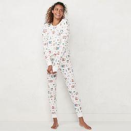 Women's LC Lauren Conrad Extra Soft Pajama Shirt & Pajama Pants Set | Kohl's