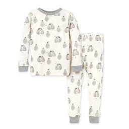 Baby Penguins Snug Fit Organic Baby Holiday Pajamas | Burts Bees Baby