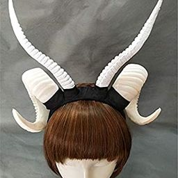Gothic Antler Sheep Horn Hoop Headband Forest Animal Photography Manual Cosplay Headpieces Party ...   Amazon (US)