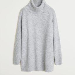 Turtle neck oversize sweater | MANGO (US)