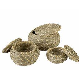 3 Piece Wicker Box Set Bay Isle Home Color: Natural Seagrass   Wayfair North America