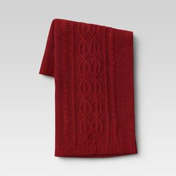 """50""""x60"""" Cable Knit Chenille Throw Blanket - Threshold™   Target"""