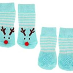 Merry & Bright No Mistletoe Needed Dog Tee & Sock Set~Blue~Small~   Amazon (US)