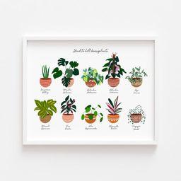 Houseplant art Bohemian poster wall decor potted plants | Etsy | Etsy (CAD)