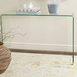 Safavieh Home Collection Ambler Clear Console Table | Amazon (US)