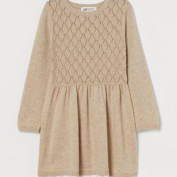 Lace-trimmed Knit Dress   H&M (US)