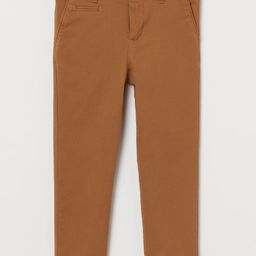 Slim Fit Cotton Chinos | H&M (US)