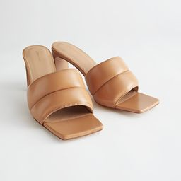 Padded Leather Heeled Sandals | & Other Stories