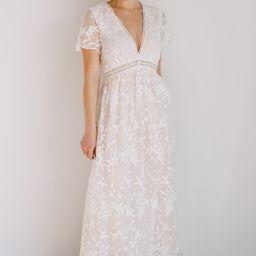 Ada Off White Lace Maxi Dress   Baltic Born