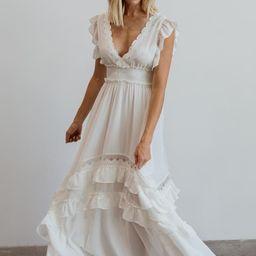 Jasmine Off-White Ruffle Maxi Dress   Baltic Born