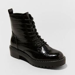 Women's Caldwell Lace Up Combat Boots - A New Day™ | Target