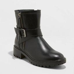 Women's Audette Buckled Moto Boots - Universal Thread™ Black | Target