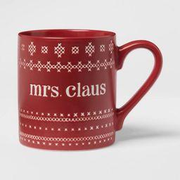 16oz Stoneware Mrs. Claus Mug Red - Threshold™ | Target