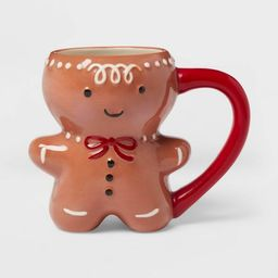 11oz Stoneware Gingerbread Man Mug Brown - Threshold™ | Target